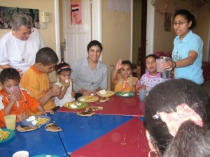 Victoria, Sr.Wafaa, Sr. Trudy and children from the Berba day-care centre