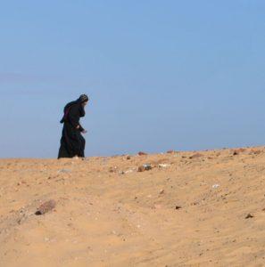Koptischer Moench in der Wüste