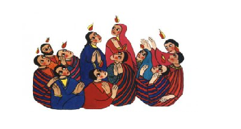 "<span class=""fancy-title"">Happy Pentecost</span><span>Acts 2:1-11; Ps 104; 1 Cor 12:3b-7, 12-13; Jn 14:15-16, 23b-26 </span>"