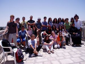 Youngs under the auspices of Neve Shalom guided by Sr.Carmen in Jerusalem