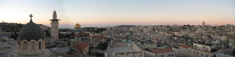 Jerusalem panorama from Ecce Homo