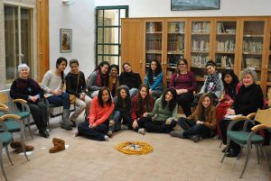 Creativity for Peace group in Ein Karem