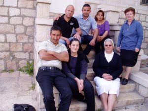 Palestinian Moslem and Christian in Bethany lessons of Hebrew were taught by Sr.Carmen